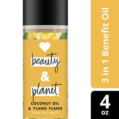 Love Beauty and Planet Coconut Oil and Ylang Ylang Hope and Repair Hair Oil 4 oz