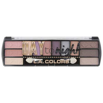 LA Colors Day To Night Eyeshadow Palette, Dawn, 12 Ct
