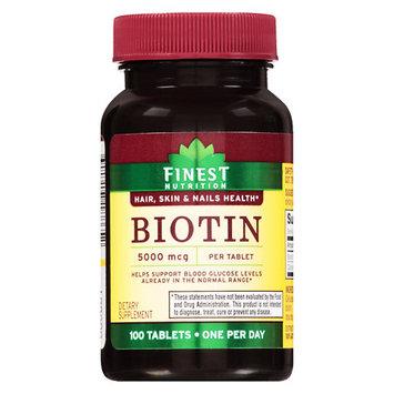 Finest Nutrition Biotin 5000 mcg Tablets - 100 ea