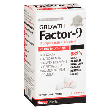 Novex Biotech Growth Factor 9 Capsules - 84 ea