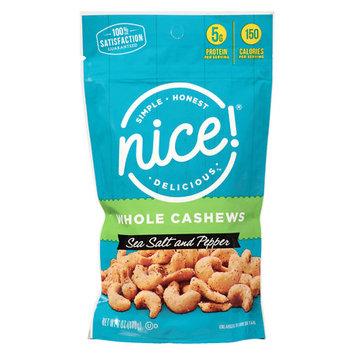 N'ice Nice! Peppercorn & Sea Salt Cashews Sea Salt and Pepper - 6 oz.