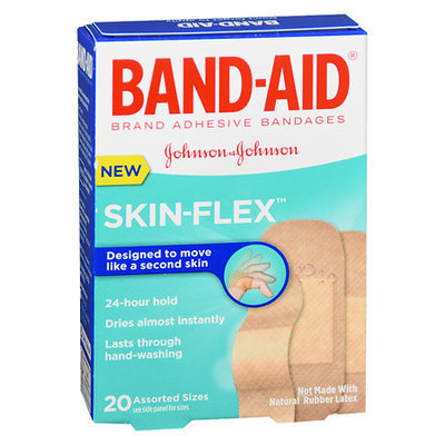 Band-Aid Flexible Bandages Skin Flex Assorted - 20 ea