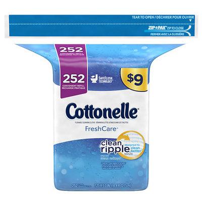 Cottonelle Freshcare Flushable Cleansing Cloths, 252 Wipes - 252 ea