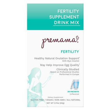 Premama Fertility Powdered Reproductive Support Drink Mix Unflavored - 28 ea