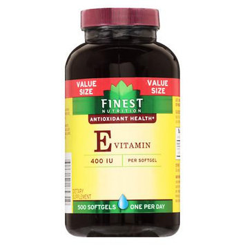 Finest Nutrition Vitamin E VS 400 IU Softgels - 500 ea