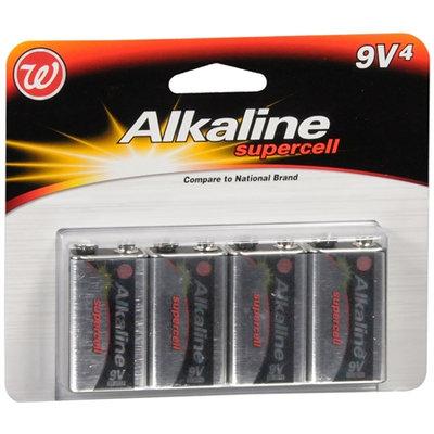 Walgreens Alkaline Supercell Batteries 9 V - 4 ea