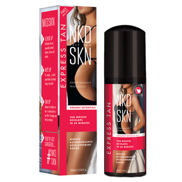 NKD SKN Self Tan Express Tan, Organic Botanicals, Tan Mousse, 3.38 Oz
