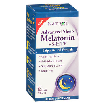 Advanced Sleep Melatonin with 5-HTP, 60 Bi-Layer Tablets, Natrol