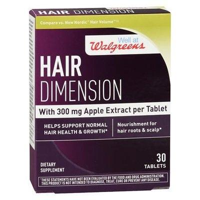 Walgreens Hair Dimensions Tablets - 30 ea