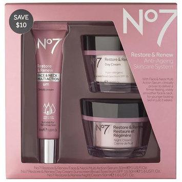 No7 Restore & Renew Face & Neck Multi Action Skincare System - 1 ea