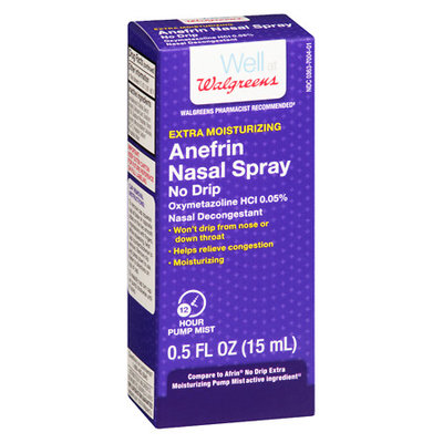 Walgreens Anefrin Nasal Spray Extra Moisturizing No Drip - 0.5 oz.