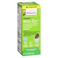 Walgreens Wal-Zyr Children's Sugar Free Dye Free Grape - 2 oz.