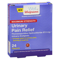 Walgreens Urinary Pain Relief Maximum Strength Tablets - 24 ea