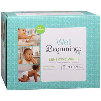 Walgreens Well Beginnings Wipes Sensitive Relief, 360 ea