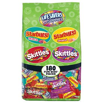 Skittles, Starburst and Life Savers Halloween Fun Size Variety Bag, 180 pieces