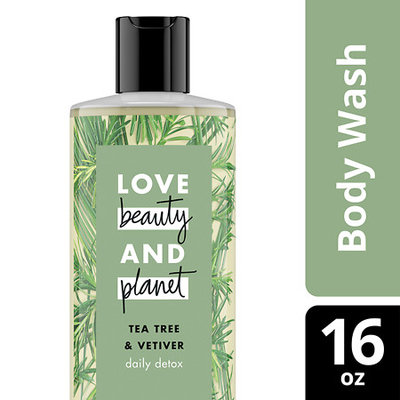 Love Beauty and Planet Tea Tree and Vetiver Daily Detox Body Wash 16 oz