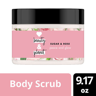 Love Beauty and Planet Sugar and Rose Scrub Peace and Glow Creamy Body Scrub 9.17 oz
