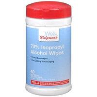 Walgreens 70% Isopropyl Alcohol Wipes, 40 ea