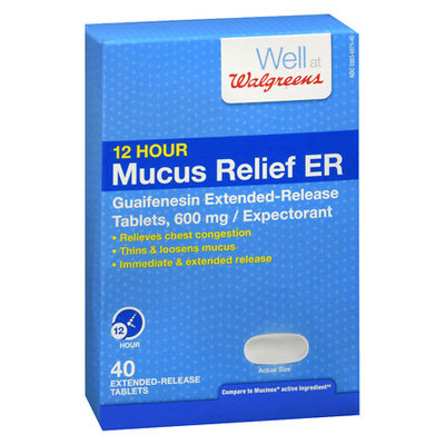 Walgreens Mucus Relief Extended-Release Tablets 600 mg - 1 ea
