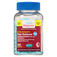Walgreens Pain Reliever PM Extra Strength Capsules - 250 ea