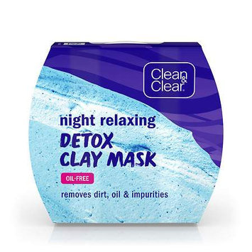 Johnson & Johnson Clean & Clear Night Relaxing & Purifying Clay Face Mask, 1.7 oz