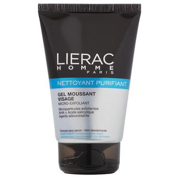 Lierac HOMME Micro-Exfoliant Purifying Cleanser Facial Foaming Gel 3.6oz