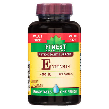 Finest Nutrition Vitamin E 400 IU Softgels - 180 ea
