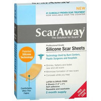 ScarAway Silicone Scar Treatment Sheets 1.5 x 3 inch - 8 ea