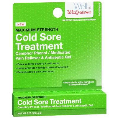 Walgreens Cold Sore Treatment Gel - 0.23 fl oz