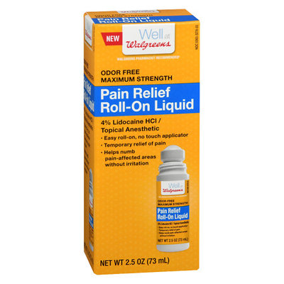Walgreens Pain Relief Roll-On With Lidocaine - 2.5 oz.