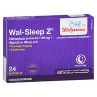 Walgreens Wal-Sleep Z Sleep Aid Liquid Gels - 24 ea