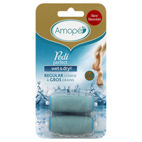 Amope Pedi Perfect Wet & Dry Electronic Rechargeable Foot File - Regular Coarse