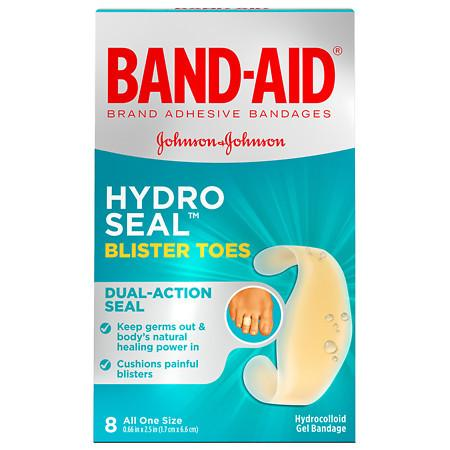 Band-Aid Brand Hydro Seal Adhesive Blister Toe Bandages, 8 Count