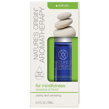 Nature's Origin Essential Oil Roll-On for Mindfulness - 0.5 oz.