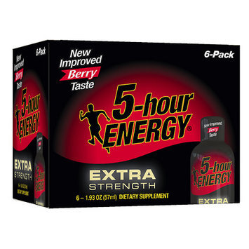 5 Hour Energy Extra Strength Energy Shot, Berry 6 ea