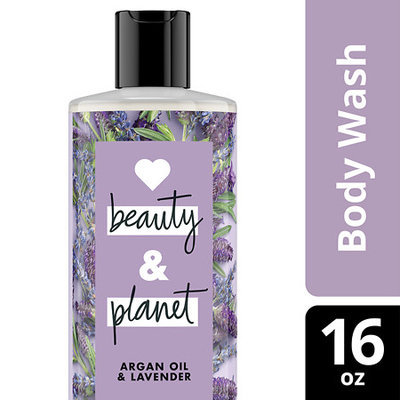 Love Beauty and Planet Argan Oil and Lavender Relaxing Rain Body Wash 16 oz
