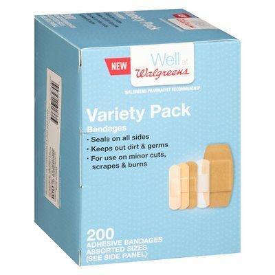 Walgreens Flexible Fabric Bandages Variety Pack - 200 ea