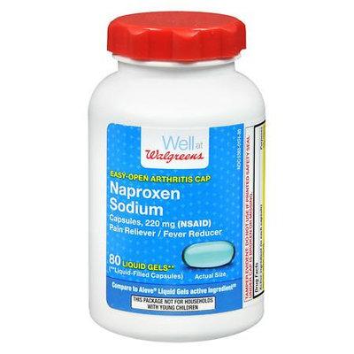 Walgreens Naproxen Sodium Liquid Gels, Easy Open Cap - 80 ea