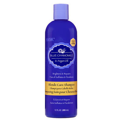 Hask Blonde Shampoo Blue Chamomile With Argan - 12 oz.