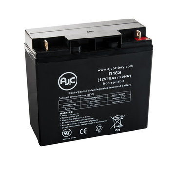 Lightalarms CE15CK 12V 18Ah Emergency Light Battery - This is an AJC Brand® Replacement