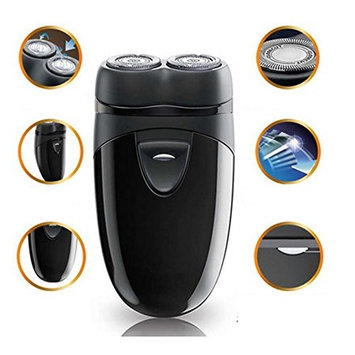MD Group Mens Razor Beard Shaver Electric Cordless Hair Clipper Trimmer Battery Powered