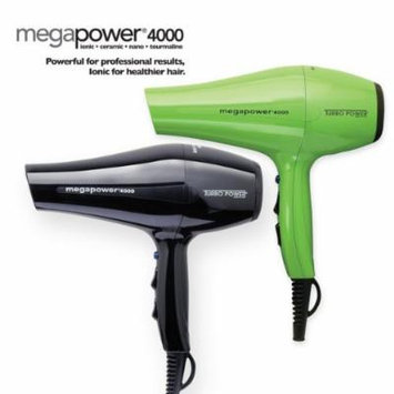 TURBO POWER 326 Mega Power 4000 Professional Hair Dryer Black