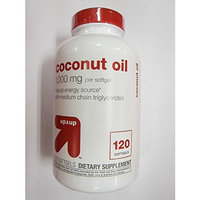 Up & Up Coconut Oil Natural Energy, 120 Softgels (Pack of 2)