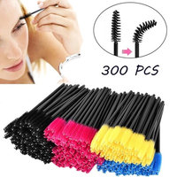 Voberry 300pcs Eyelash Mascara Brushes Wands Applicator Makeup Brush
