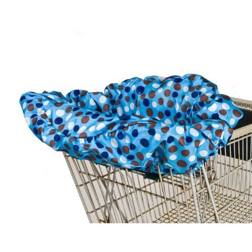 Wupzey Shopping Cart Cover, Blue Dot