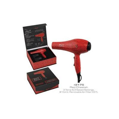 RX7 Superlite Ionic Tourmaline Hairdryer, Red Cheetah, 32 Ounce