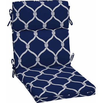 Better Homes and Gardens Outdoor Dining Chair Cushion, Blue Rope