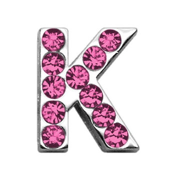 Mirage Pet Products 1805 34K .75 in. 18mm Pink Letter Sliding Charms K .75 18mm