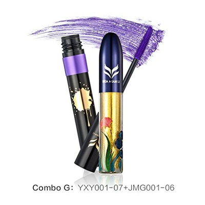 Creazy 2 in 1 Makeup Set Eye liner Mascara Color Liquid Eyeliner Thick Eyelash Curling (G)