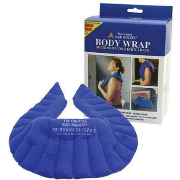 Carex, Bed Buddy Body Wrap, Flexible Soft Fabric Filled with Natural Grains for Hot or Cold Therapy, Great for Cramps, Muscle Pain, Joint Pain from Arthritis, Headaches, Hot Flashes